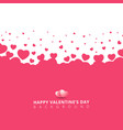 pink hearts futuristic random size on white vector image