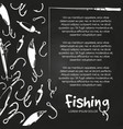 poster fishing banner vector image vector image