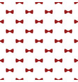 red dotted bow tie pattern seamless vector image