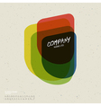 retro colorful abstract icon vector image vector image