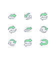 reverse line icons included vector image vector image