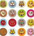 Set of funny owl sketch doodle vector image vector image