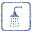 shower fabric textured icon vector image vector image