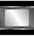 silver plaque vector image vector image
