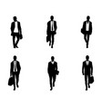 six business mens vector image vector image