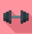 sport dumbell icon flat style vector image