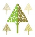 Stylized apple tree icons vector image vector image