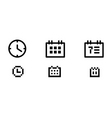 time and date icons vector image