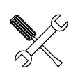 tool repair service icon vector image vector image