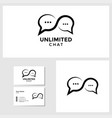 unlimited chat logo template with business card vector image
