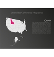 USA map infographics template with highlighted vector image