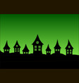 village on a green background vector image vector image