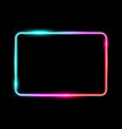 white colorful neon shiny glowing vintage frame vector image