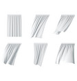 white curtain set realistic vector image vector image