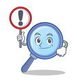 with sign magnifying glass character cartoon vector image