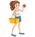 Woman shopping fresh ingredient vector image