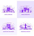 flat line purple designed concepts 4 vector image