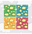 Marker Speech Bubbles Seamless Pattern Set vector image