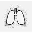 Drawing medical formulas lung vector image