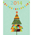 Decoration with stylized fir tree vector image