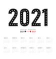 2021 calendar planner set for template design iso vector image