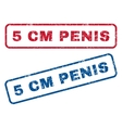 5 cm Penis Rubber Stamps vector image vector image