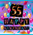 55 years anniversary celebration design vector image