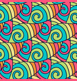 abstract doodle pattern colorful wavy background vector image