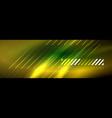 abstract neon glowing light background dark vector image