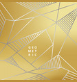 abstract silver line geometric on gold background vector image