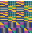 african geometric kente cloth pattern