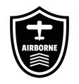 airborne badge logo simple style vector image vector image