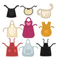 aprons for maid and cook barman and waitress vector image