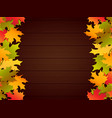 autumn festival frame background vector image vector image