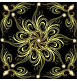 background with gold flower vector image vector image