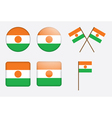 badges with flag of Niger vector image vector image