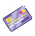 banking invesment credit card isolated vector image