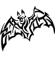 bat in tribal style vector image