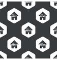 Black hexagon house rent pattern vector image vector image
