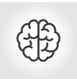 black line brain icon vector image vector image