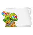 blank banner with many giraffes in party theme vector image