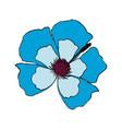 blue flower decoration floral ornament vector image