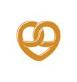 Bretzel heart love logo vector image vector image