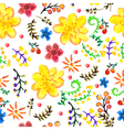 Bright Seamless watercolor color floral background vector image vector image