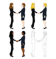 Business Two Women Hand Shake vector image vector image