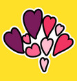 cartoon romantic love sign vector image vector image