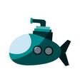 cartoon submarine icon image vector image vector image