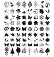 character outlines details of nature vector image