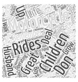 Children and Motorcycles Word Cloud Concept vector image vector image