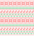 christmas seamless pattern nordic style knitted vector image vector image